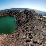 Kráter po testování bomb na Kaho'olawe