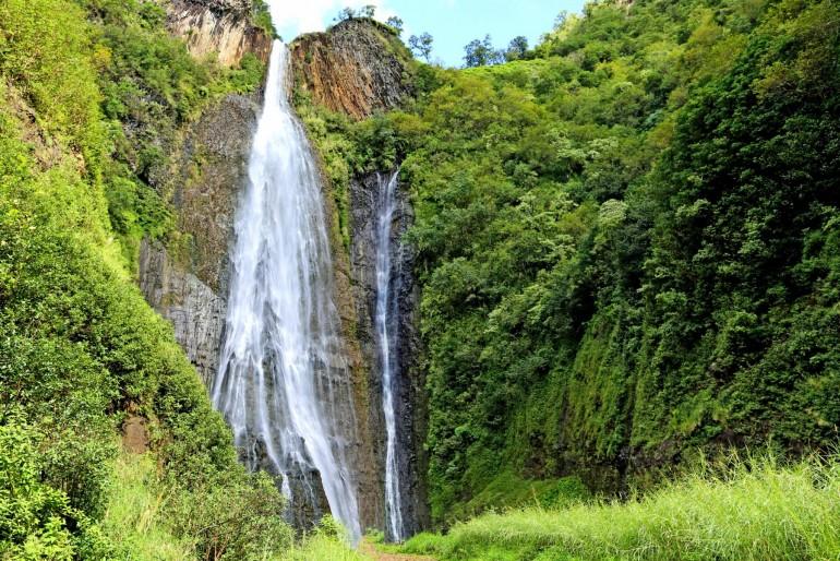 Manawaiopuna Falls (vodopády z Jurského parku)