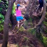 Pihea Trail - šplhání vzhůru po bahnité stezce