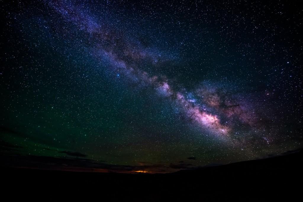 Pozorování mléčné dráhy na Mauna Kea