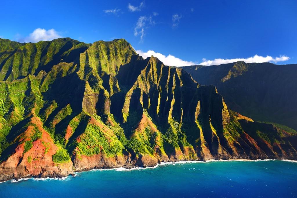 Překrásné útesy Na Pali Coast