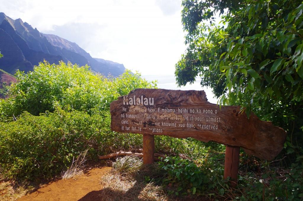 Vstup do Kalalau Valley