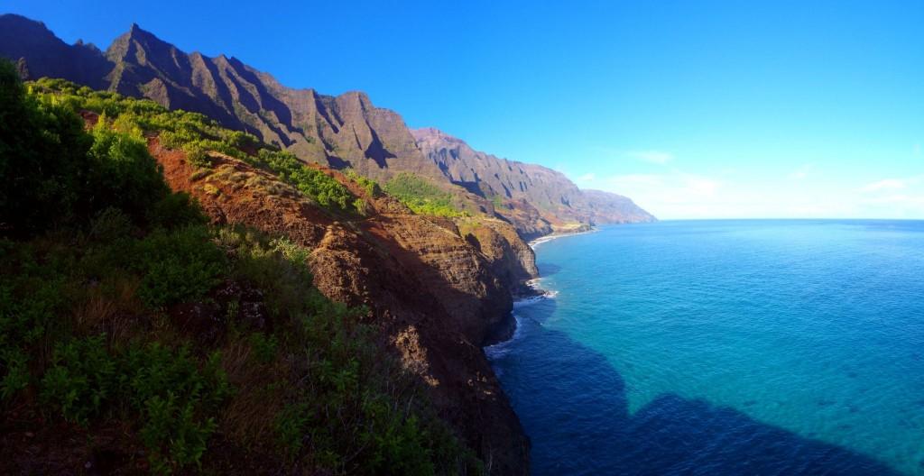Východ Slunce nad Na Pali Coast