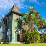 Wai`oli Hui`ia - krásný kostel v Hanalei