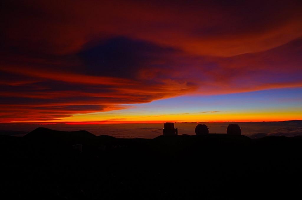 Západ Slunce na Mauna Kea