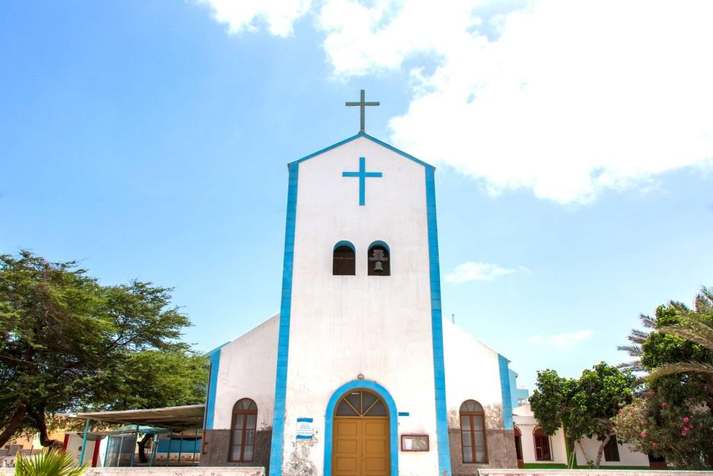 Kostel ve městě Santa Maria na ostrově Sal