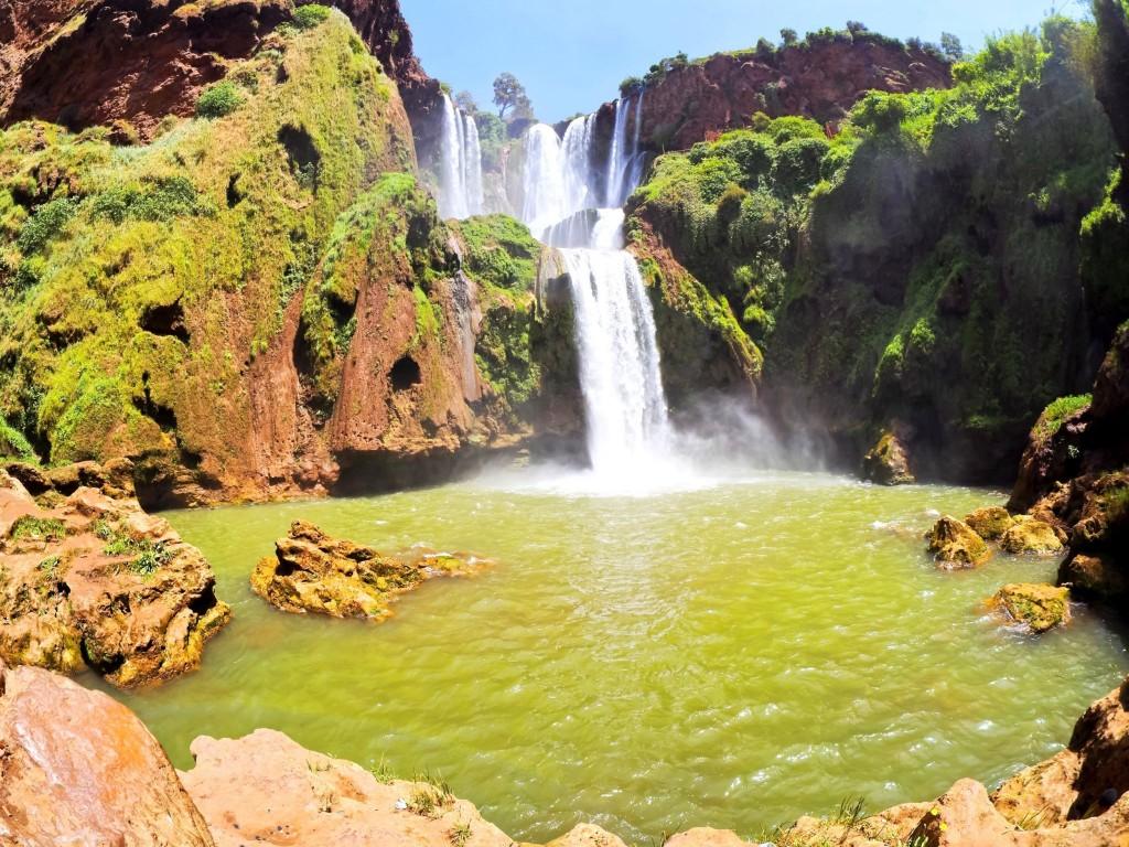 Krásné vodopády Ouzoud