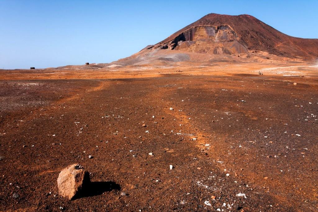 Kráter Calhau  na ostrově Sao Vicente