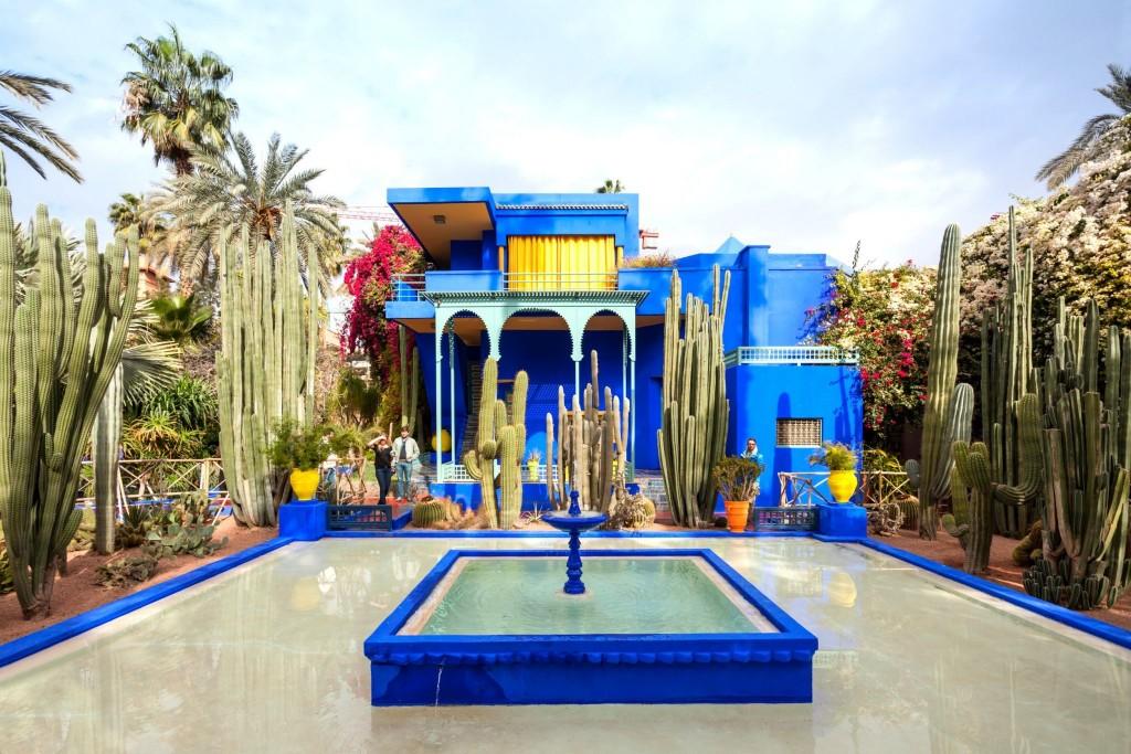 Majorelle Gardens v Marrákeši