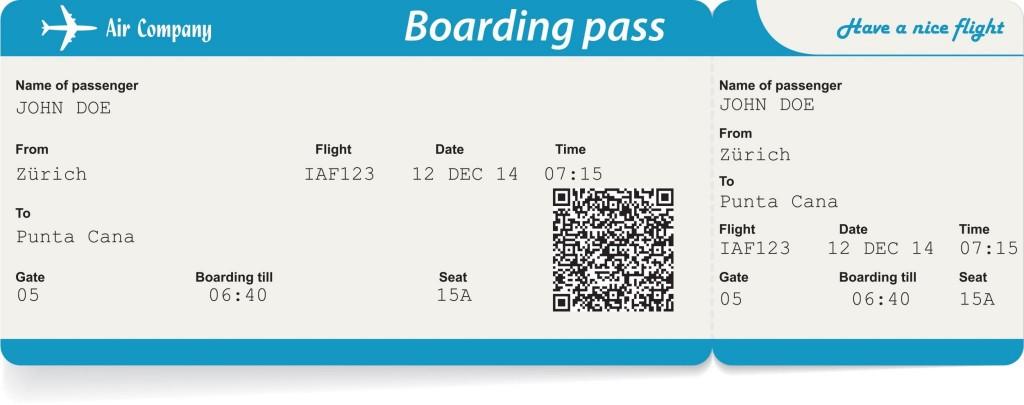 Palubní lístek (boarding pass)