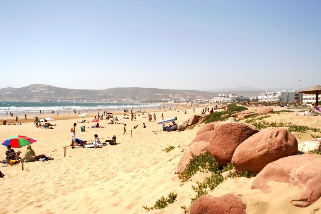 Pláž města Agadir