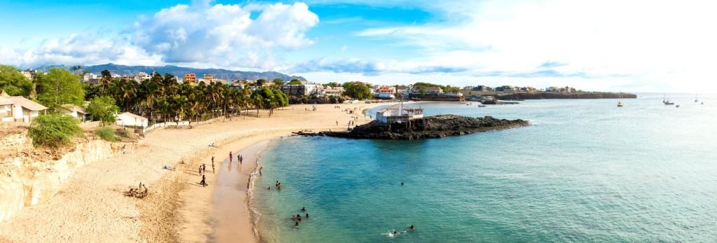 Pláž Tarrafal  na ostrově Santiago