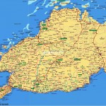 Mapa ostrova Bohol