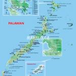 Mapa ostrova Palawan