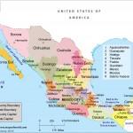 Mapa oblastí Mexika