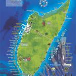 Mapa ostrova Cozumel