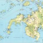 Mapa ostrova Mindanao