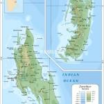 Mapa ostrovů Unguja a Pemba