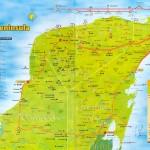 Mapa poloostrova Yucatán