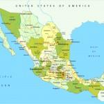 Administrativní mapa Mexika