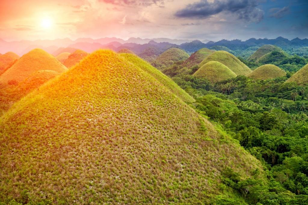 Chocolate hills na ostrově Bohol