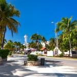 Hlavní ulice na ostrově Isla Mujeres