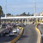 Hraniční přechod do města Tijuana