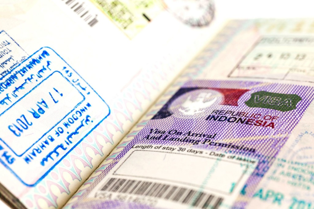 Indonéské vízum v pase