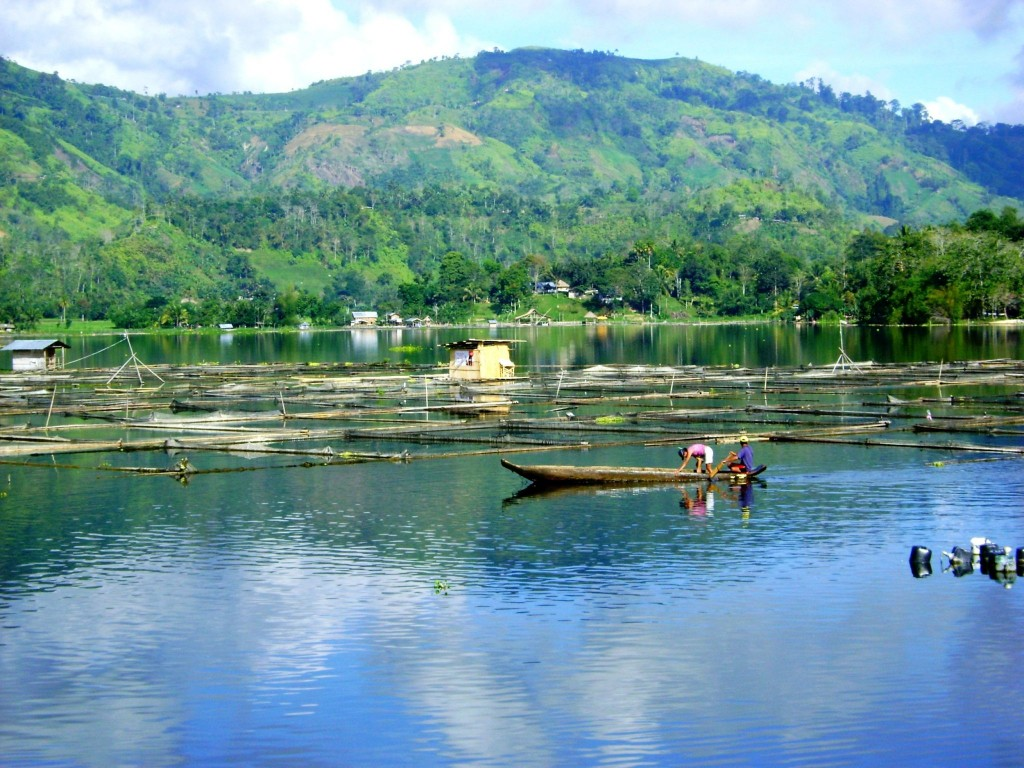 Jezero Sebu na ostrově Mindanao