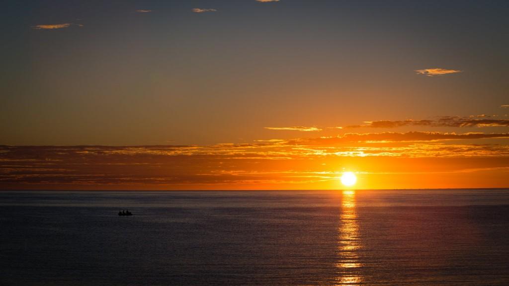 Kortézovo moře při západu slunce