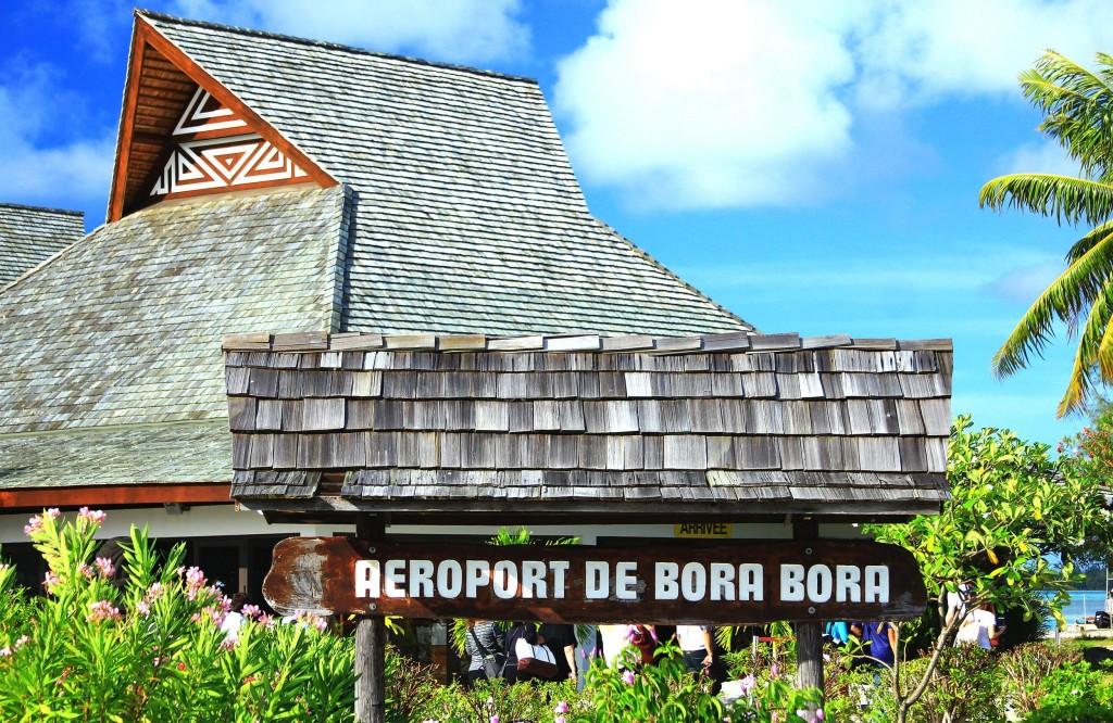 Letiště v Polynésii (Bora Bora)