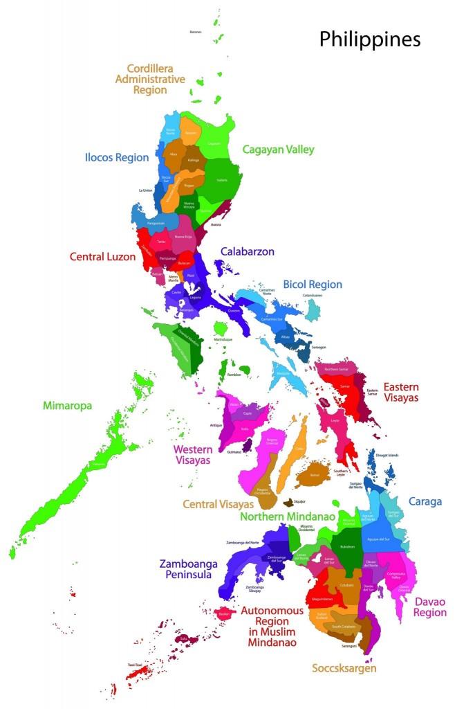 Mapa regionů Filipín