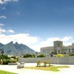 Panorama náměstí města Monterrey