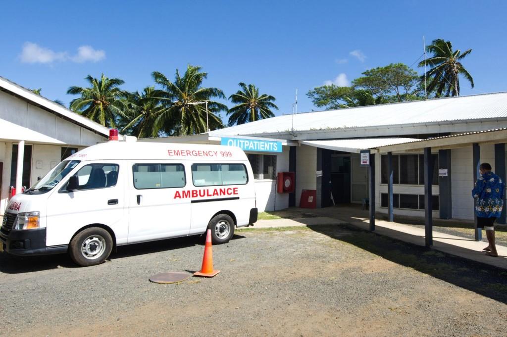 Sanitka na ostrově Rarotonga