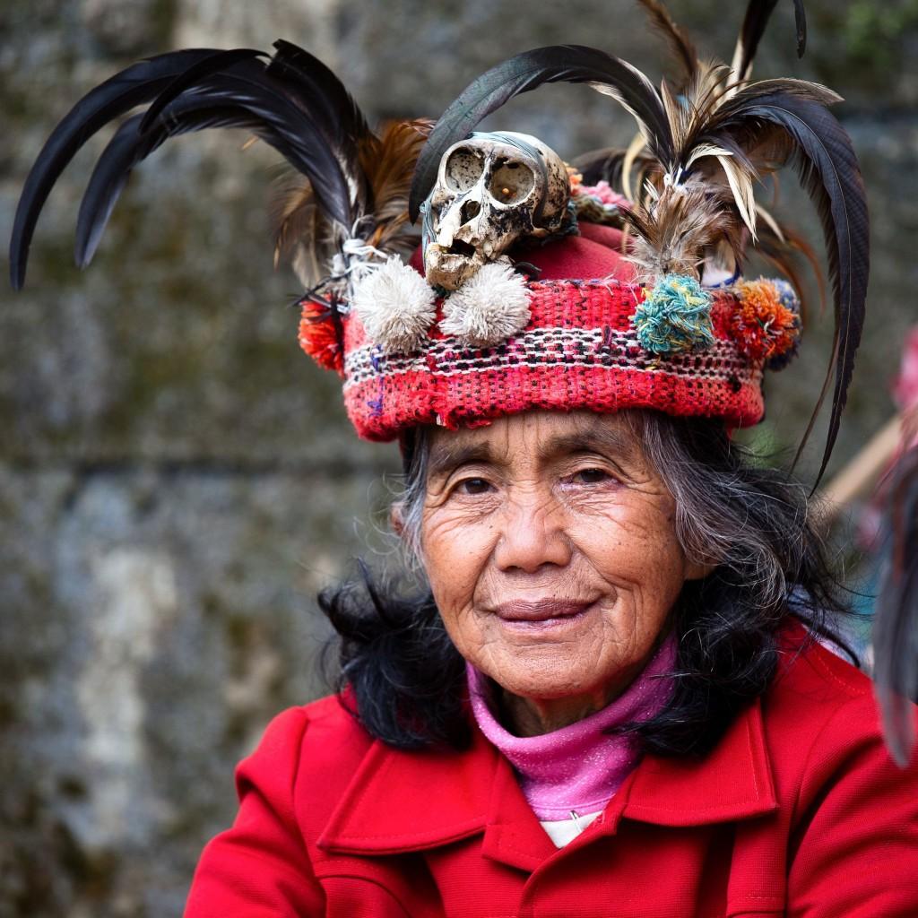 Stará žena kmene ifugao