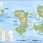 Mapa Chios, Psara, Antipsara