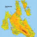 Mapa Kefalonie a Ithaka