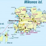 Mapa Mykonos