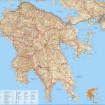 Mapa Peloponés
