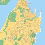 Mapa Rhodos - Rhodos town a okolí