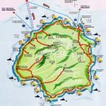 Mapa Thassos
