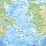 Mapa řeckých ostrovů