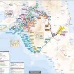 Plánek dopravy v Athénách