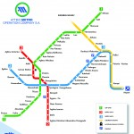 Plánek metra v Athénách
