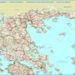 Silniční mapa Řecka