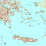 Silniční mapa Řecka - jih