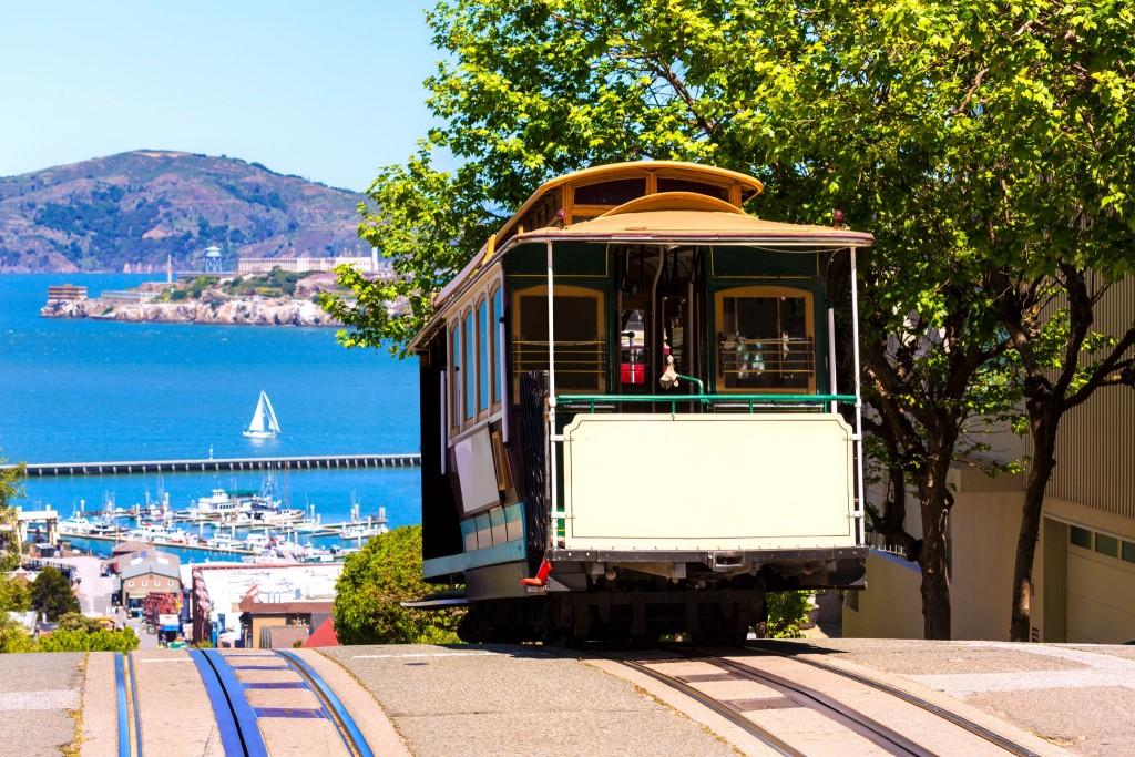 Cable car v San Franciscu