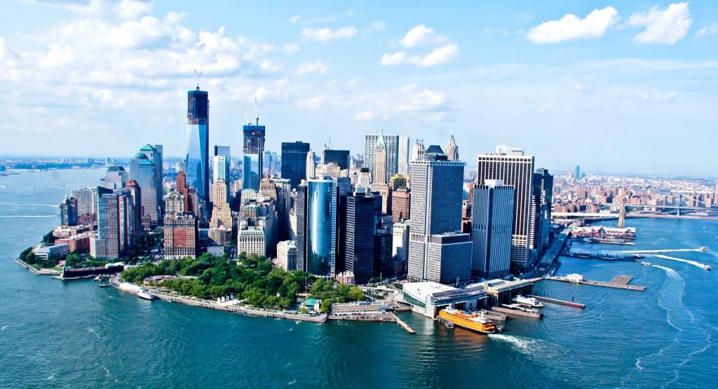 Dolní Manhattan v New Yorku