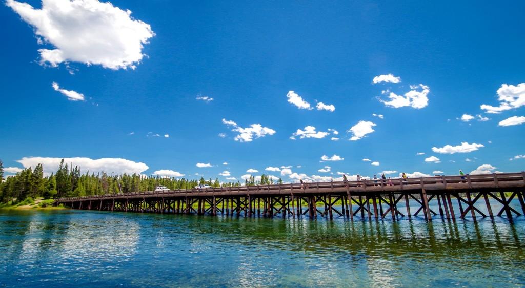 Fishing Bridge v národním parku Yellowstone