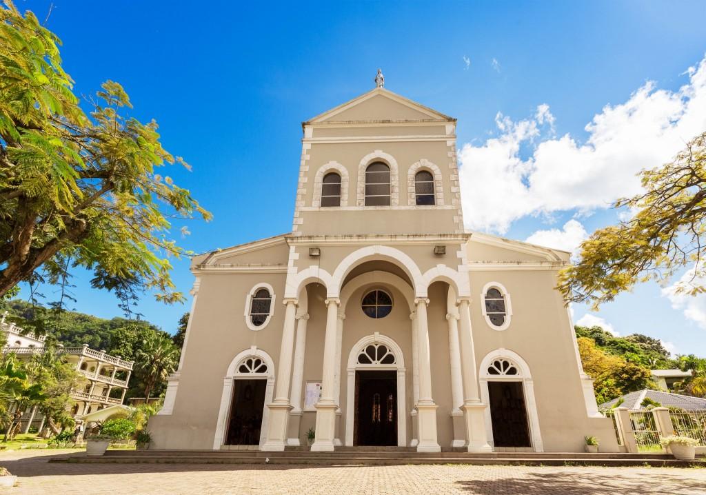 Kostel ve Viktorii na ostrově Mahé